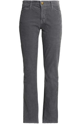 CURRENT/ELLIOT + CHARLOTTE GAINSBOURG Corduroy straight-leg jeans