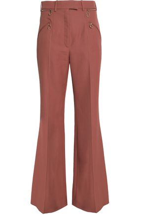 NINA RICCI Zip-detailed wool flared pants