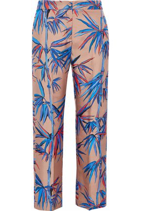 EMILIO PUCCI Silk-twill straight-leg pants