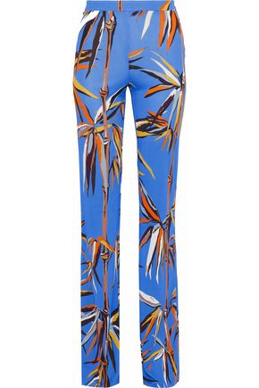 EMILIO PUCCI Printed jersey wide-leg pants