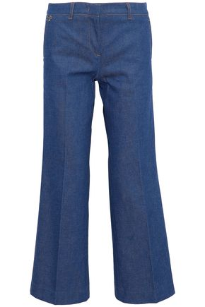 EMILIO PUCCI Cropped mid-rise wide-leg jeans
