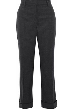 JIL SANDER Mohair-blend straight-leg pants