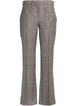 NINA RICCI Houndstooth twill flared pants