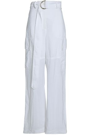 NINA RICCI Crinkled wide-leg pants