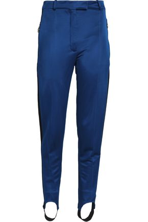 NINA RICCI Sateen slim-leg stirrup pants