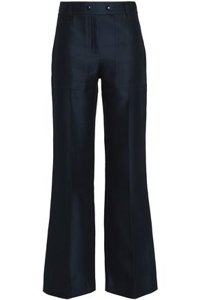 NINA RICCI Cotton and silk-blend straight-leg pants