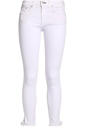 RAG & BONE Knotted mid-rise skinny jeans