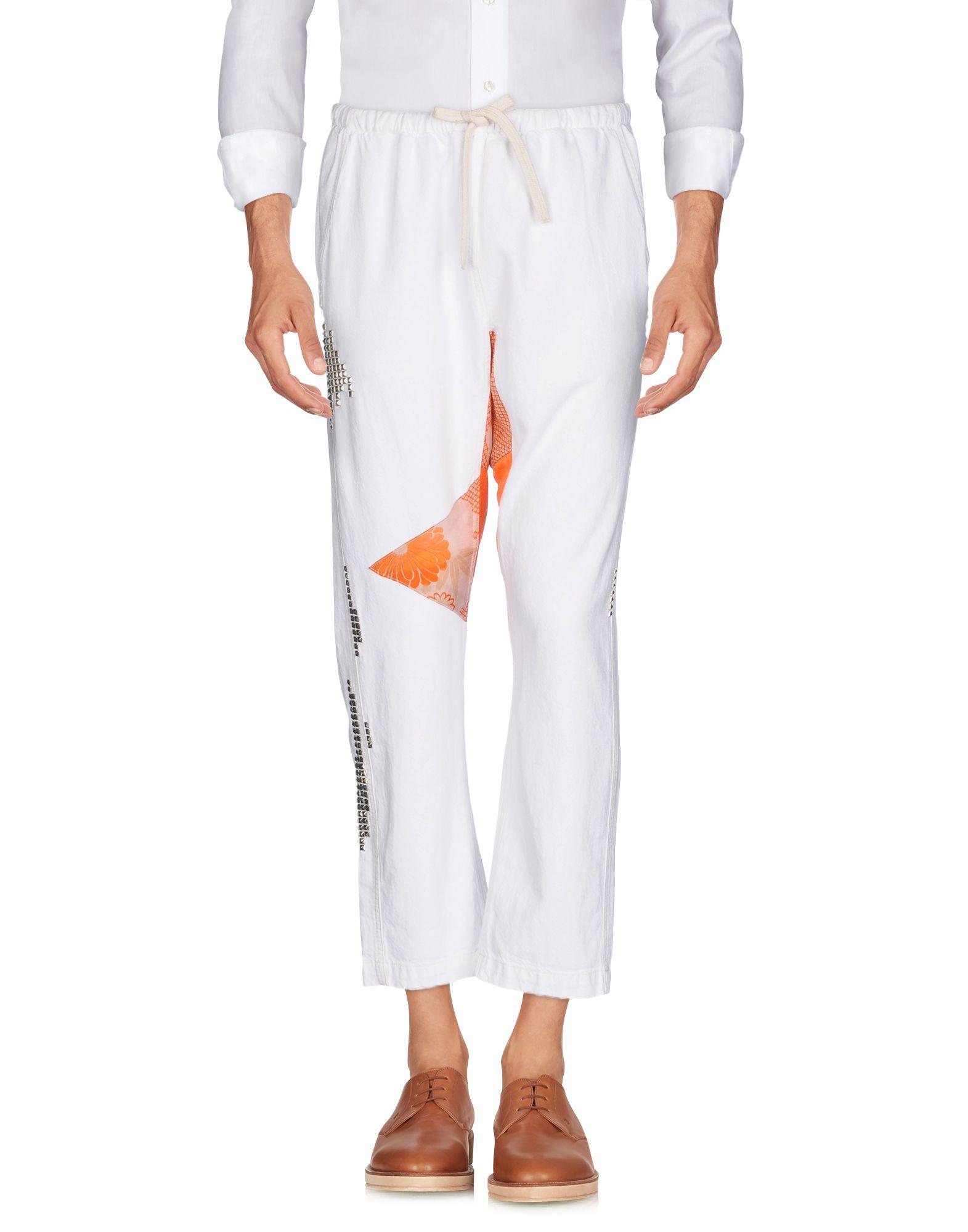 《送料無料》FREE CITY メンズ パンツ ホワイト XS コットン 100%