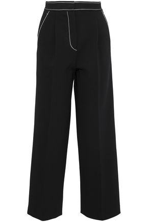 EMILIO PUCCI Embroidered ponte wide-leg pants