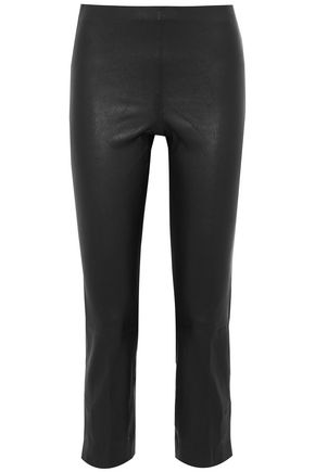 VINCE. Leather skinny pants