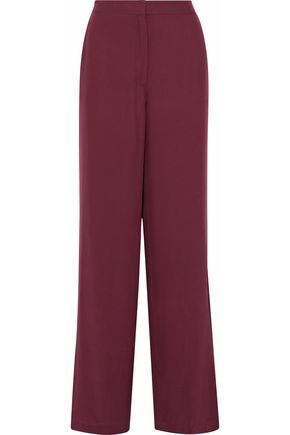 ROBERT RODRIGUEZ Washed-silk wide-leg pants