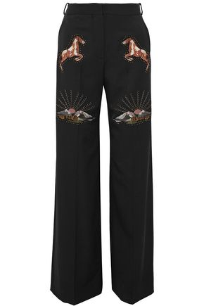 STELLA McCARTNEY Embellished wool wide-leg pants