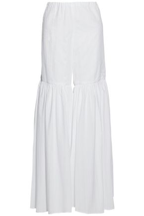 CAROLINE CONSTAS Cotton gauze wide-leg pants