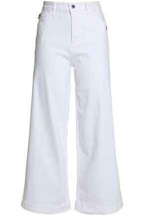 LOVE MOSCHINO High-rise flared jeans