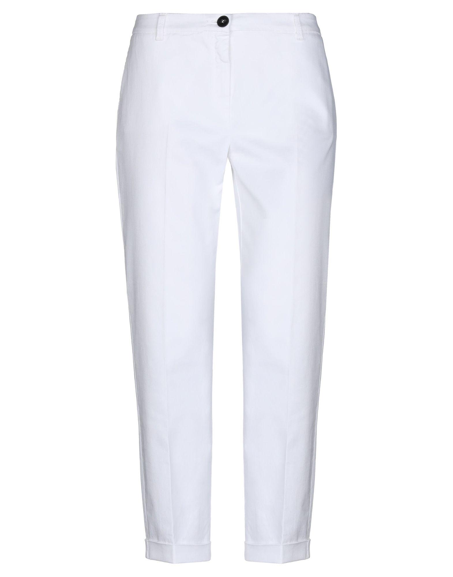 《セール開催中》EMME by MARELLA レディース パンツ ホワイト 46 コットン 98% / ポリウレタン 2%