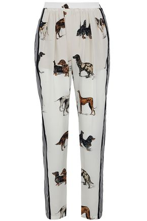 STELLA McCARTNEY Printed silk-chiffon straight-leg pants