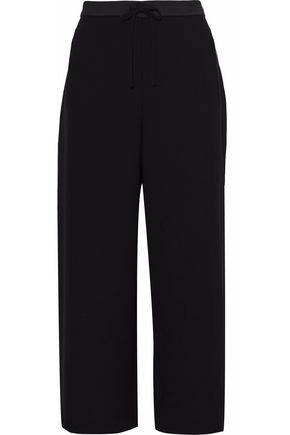 T by ALEXANDER WANG Cropped crepe wide-leg pants