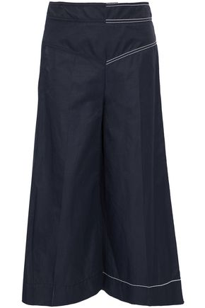 STELLA McCARTNEY Button-detailed twill wide-leg pants