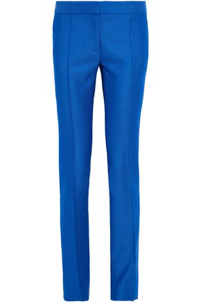 STELLA McCARTNEY Wool-piqué straight-leg pants