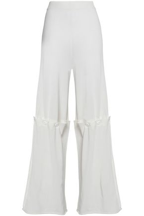 MM6 MAISON MARGIELA Open-knit flared pants