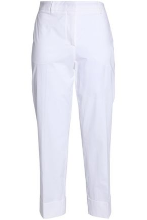 EMILIO PUCCI Cropped stretch-cotton tapered pants