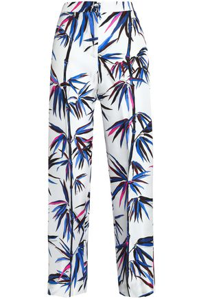 EMILIO PUCCI Printed silk wide-leg pants