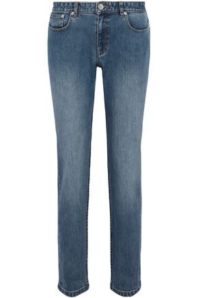 A.P.C. Mid-rise faded slim-leg jeans