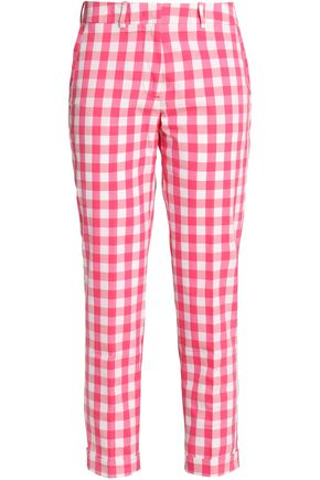 LOVE MOSCHINO Gingham tapered pants