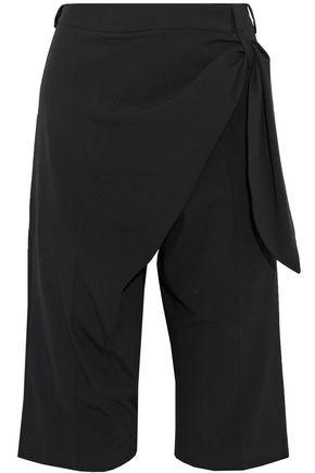 J.W.ANDERSON Wrap-effect draped crepe shorts