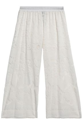JUST CAVALLI Lace wide-leg pants