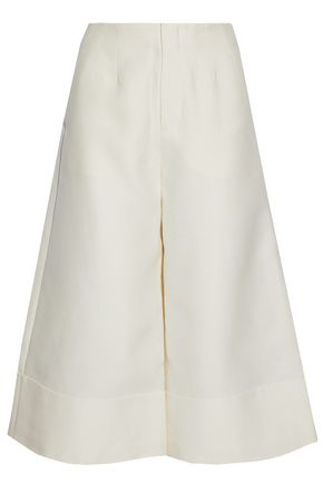CO Wool, cotton, silk and cashmere-blend culottes