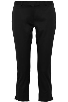 JOSEPH Cropped cotton-blend slim-leg pants