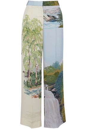 STELLA McCARTNEY Printed twill wide-leg pants