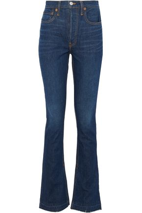 RE/DONE by LEVI'S Distressed high-rise flared jeans