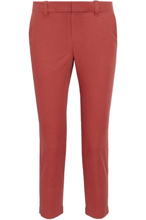 BRUNELLO CUCINELLI Cropped cotton-blend slim-leg pants