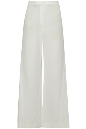 BRUNELLO CUCINELLI Crepe wide-leg pants