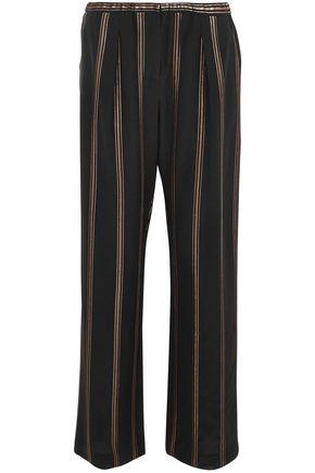 BRUNELLO CUCINELLI Silk-crepe wide-leg pants