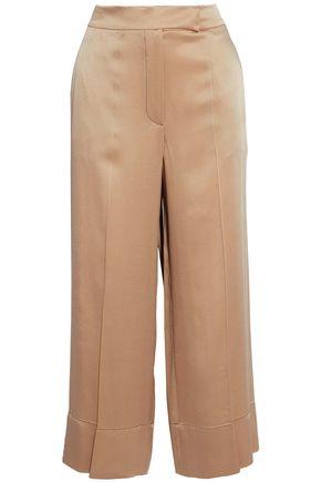 BRUNELLO CUCINELLI Satin-crepe wide-leg pants