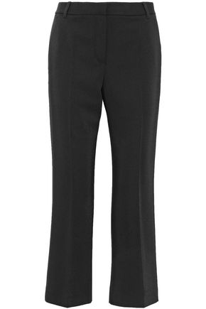 T by ALEXANDER WANG Cropped twill straight-leg pants