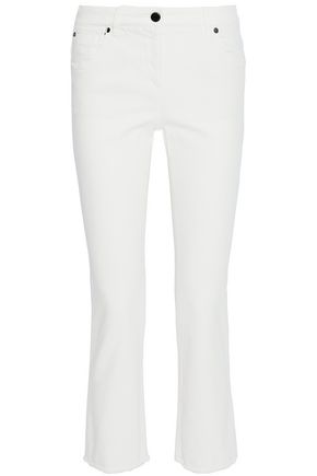 BRUNELLO CUCINELLI Frayed mid-rise bootcut jeans