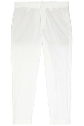 BRUNELLO CUCINELLI Cotton-blend twill wide-leg pants