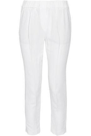BRUNELLO CUCINELLI Gathered crepe slim-leg pants