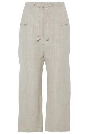 JOSEPH Cropped canvas wide-leg pants