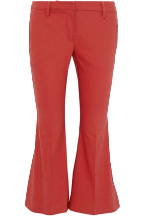 BRUNELLO CUCINELLI Cropped twill flared pants