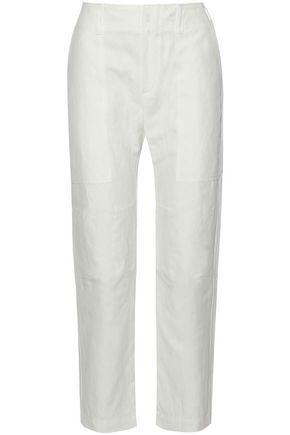 BRUNELLO CUCINELLI Cotton and linen-blend canvas straight-leg pants