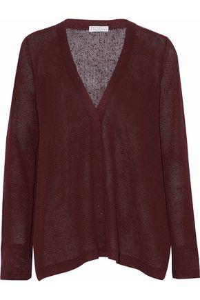 BRUNELLO CUCINELLI Sequined linen and silk-blend top