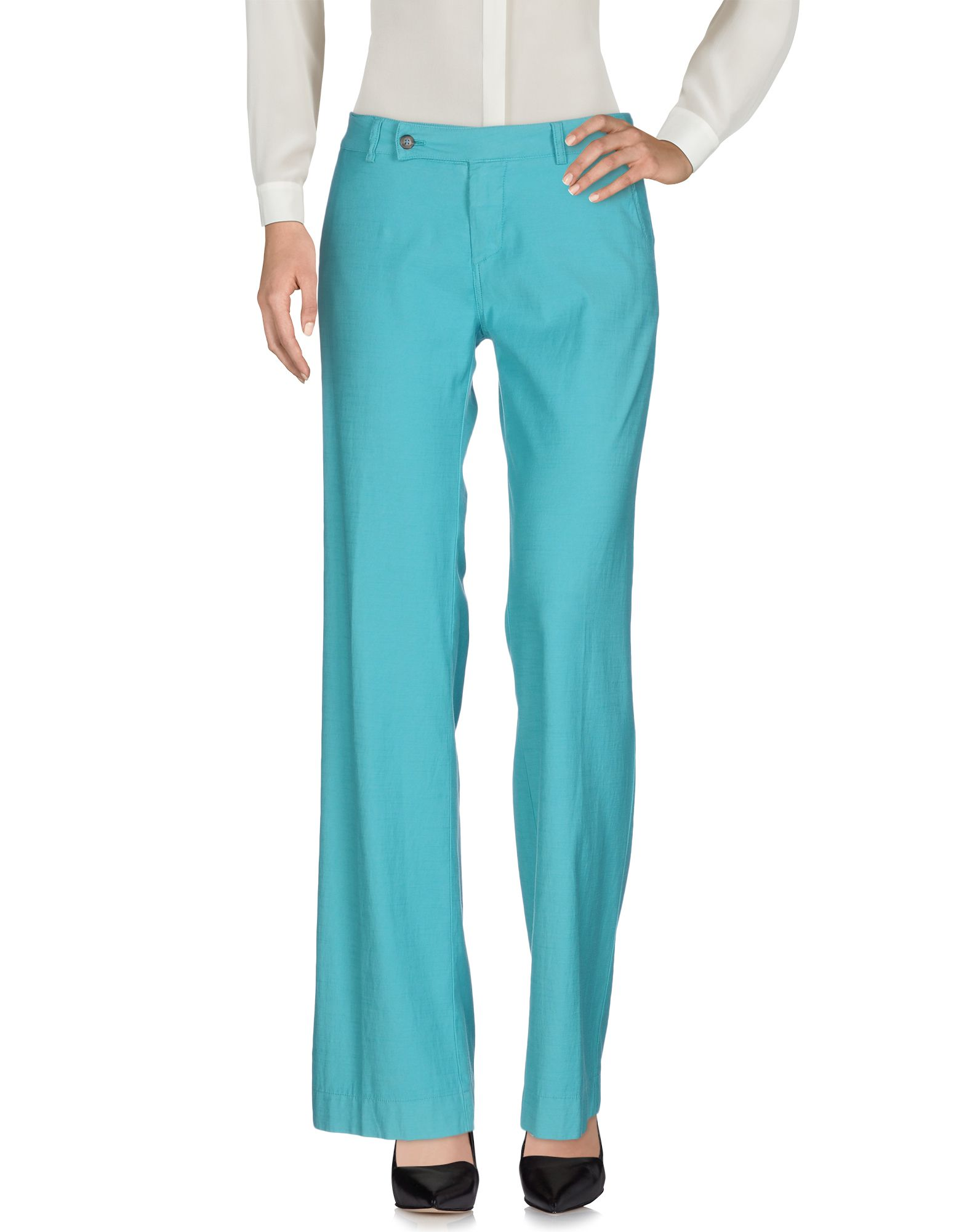 TRUE TRADITION Casual Pants in Turquoise