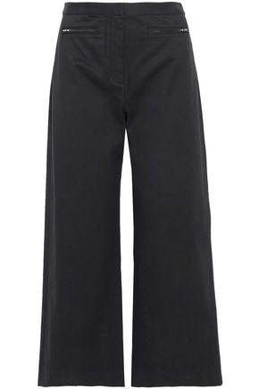 T by ALEXANDER WANG Stretch-cotton twill wide-leg pants