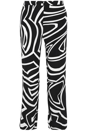 EMILIO PUCCI Printed silk crepe de chine straight-leg pants