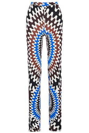 EMILIO PUCCI Printed jersey bootcut pants